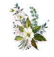bouquet with white flowers vector image vector image
