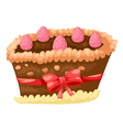 cake chocolate with strawberry vector image vector image