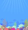 cartoon undersea vector image