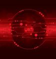 cd dvd disk on red digital background vector image