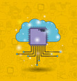 color pattern background of future tech with cloud vector image