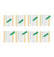 color pencil checking on to do list sprite sheet vector image
