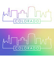 colorado springs skyline colorful linear style vector image vector image