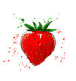 colored hand sketch of strawberry vector image vector image