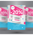 Corporate flyer with paper bags vector image vector image
