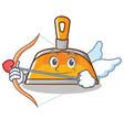 cupid dustpan character cartoon style vector image