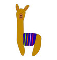 cute cartoon llama design with no prob vector image