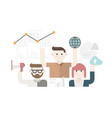 cute modern business people vector image