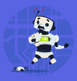 cute robot scared modern artificial intelligence vector image