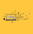 cyber monday linear minimalistic for vector image vector image