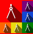 divider simple sign set of icons with vector image vector image