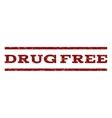 Drug Free Watermark Stamp vector image vector image