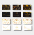 elegant black and white luxury business cards set vector image