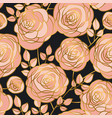 elegant luxury rose flowers seamless pattern vector image