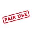 Fair Use Text Rubber Stamp vector image vector image