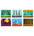 flat set of 6 scenes for mobile game vector image vector image