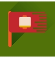 Flat web icon with long shadow mobile battery vector image vector image