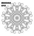 flower mandala coloring book element vector image vector image