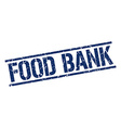 food bank stamp vector image vector image
