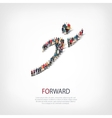 forward people crowd vector image