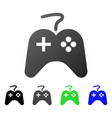 game controller flat gradient icon vector image