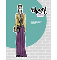 girl street fashion look vector image vector image
