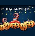 halloween pumpkin happy faces watercolor smilling vector image vector image