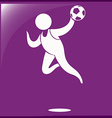 Handball icon on purple background vector image vector image