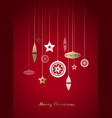 hanging gold and white christmas decoration on vector image