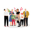 happy family together vector image vector image