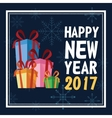 happy new year 2017 greeting card with presents vector image