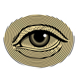 Human eye in vintage engraved style vector image vector image