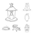 isolated object of entertainment and forest icon vector image vector image