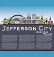 jefferson city missouri skyline with color vector image vector image