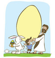 jesus easter gift is eternal life vector image vector image