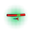 Ninja weapon icon comics style vector image vector image