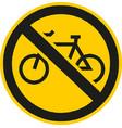 no bicycles road sign vector image vector image