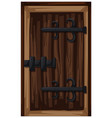 old style of wooden door vector image vector image