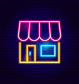 online shopping neon sign vector image vector image