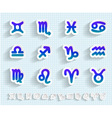Paper Zodiak Astrological Signs Icon Set vector image vector image