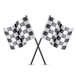 racing flags icon vector image vector image
