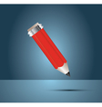 red one pencil vector image vector image