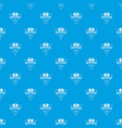 retro music pattern seamless blue vector image vector image