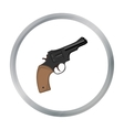 Revolver icon cartoon Singe western icon from the vector image vector image
