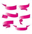 ribbon patterns vector image