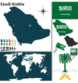 Saudi Arabia map world vector image vector image
