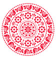 scandinavian folk design mandala pattern vector image vector image