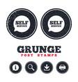 self service sign icon maintenance symbol vector image