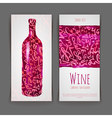 Set of wine labels Artistic watercolor backgroun