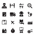 shipping logistics icons set vector image vector image